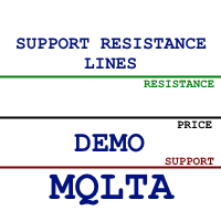 MQLTA Support Resistance Lines DEMO