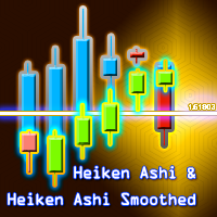 Heiken Ashi and Heiken Ashi Smoothed MA MT4