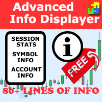 Advanced Info Displayer mt5 FREE