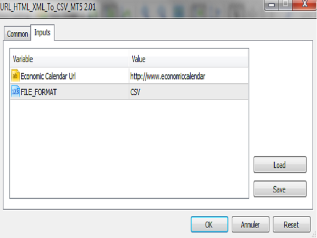 Url Html and Xml To Csv Mt5