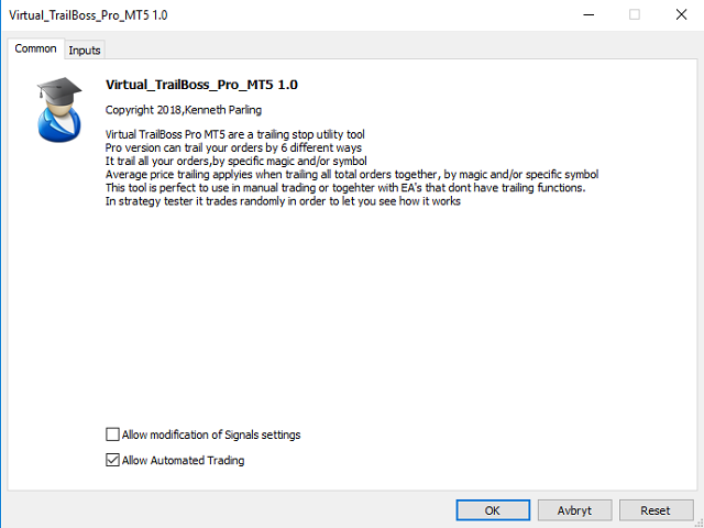 Virtual TrailBoss Pro MT5