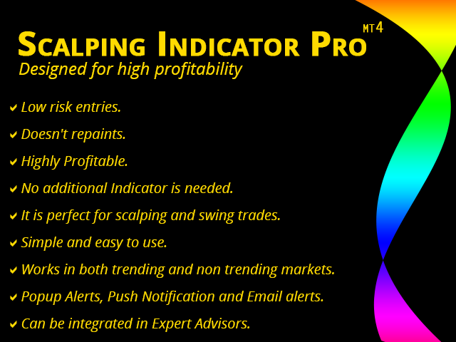 Buy the 'Scalping Indicator Pro mt4' Technical Indicator for