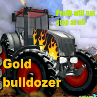 Gold bulldozer