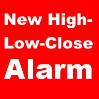 New High Low Close Alarm