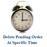 Delete pending order at time