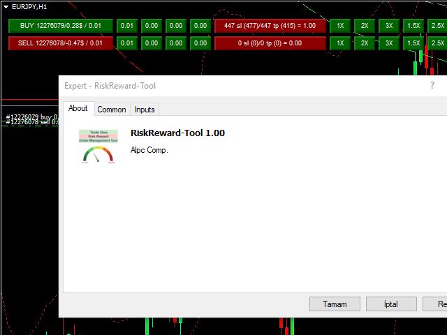 Trade View Risk Reward Order Management Tool