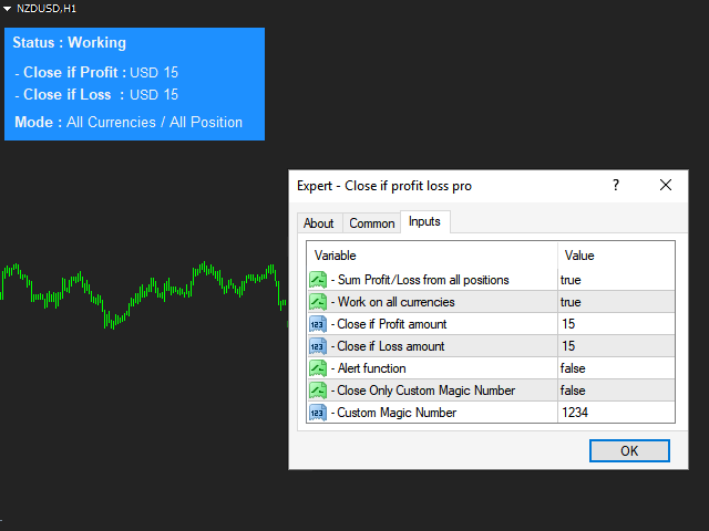 Download The 'Close If Profit Loss Demo' Trading Utility