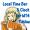 Local Time Bar and Clock for MT4 Retina