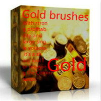 Gold brushes