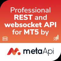 MetaApi REST and websocket API for MT5