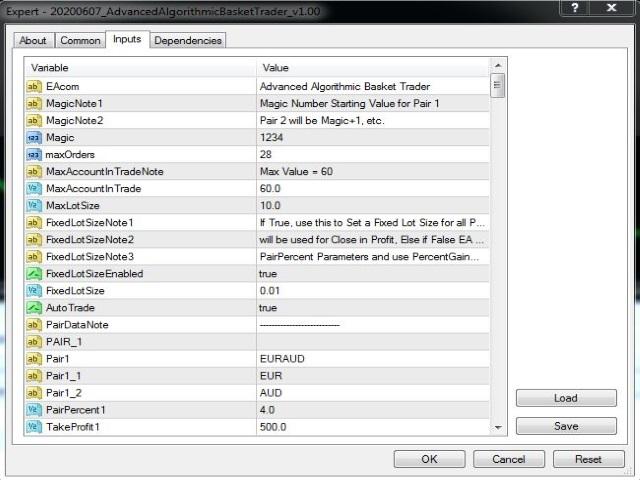 Advanced Algorithmic Basket Trader Demo