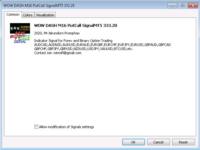 WOW Dash M16 PutCall SignalMT5