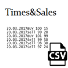 Times and Sales save to csv