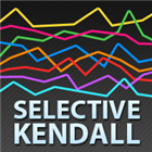 Selective Kendall rank correlation