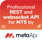 MetaApi REST and websocket API for MT5