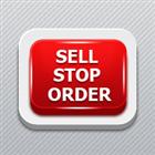 Virtual pending sell stop order