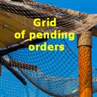 Grid of pending orders