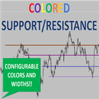 Colored Support and Resistance Lines Easy