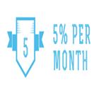Five percent per month