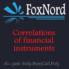 Correlations of financial instruments