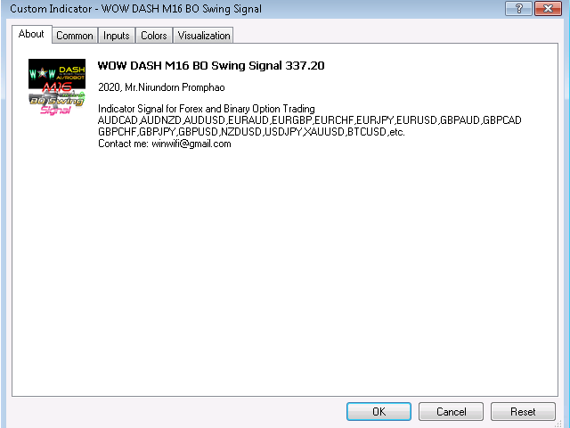 WOW Dash M16 BO Swing Signal