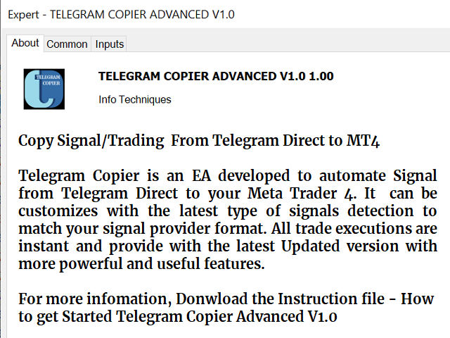 Telegram Copier Trade MT4