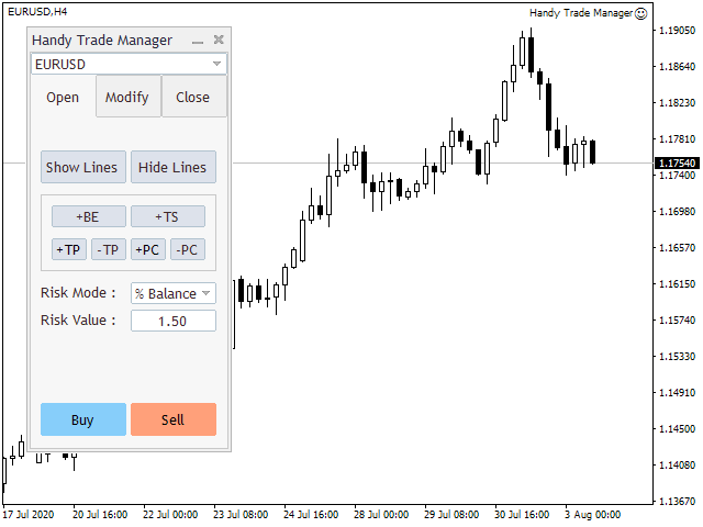 Handy Trade Manager MT4 Demo