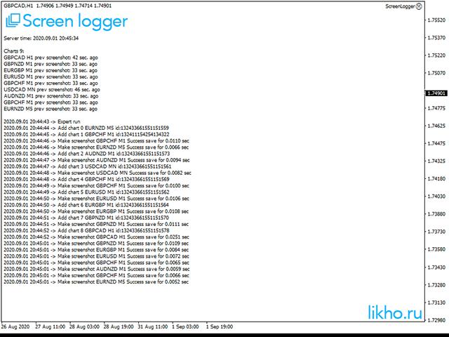 Screen logger