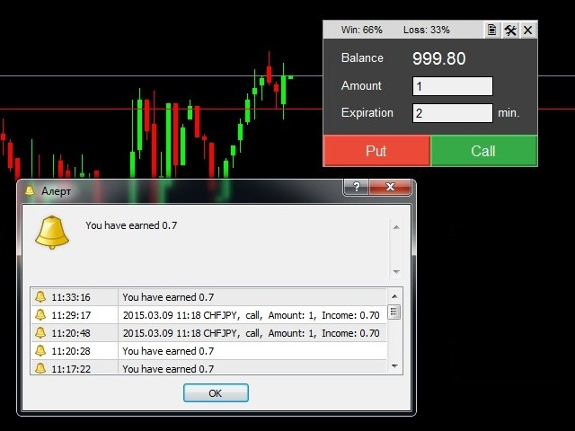 Binary options trade demo