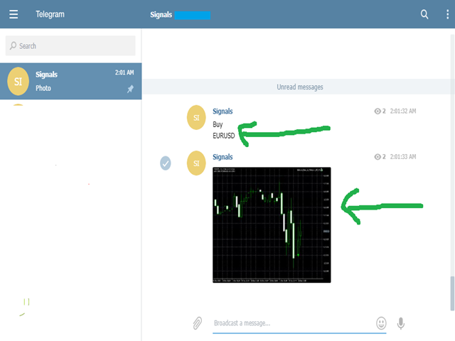 Send any indicator signals to Telegram channel MT4