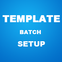 Set up templates for charts in batches