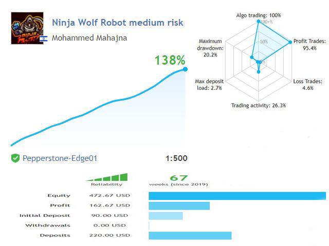 Ninja Wolf Robot GMT