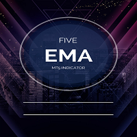 Five EMA Horizontal Line MT4