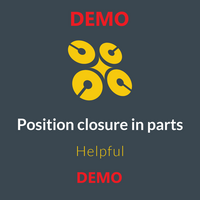 Position closure in parts DEMO