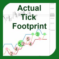 Actual Tick Footprint      Volume Chart