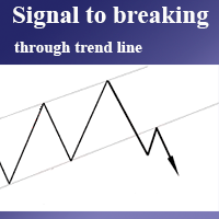 Signal to breaking through trend line