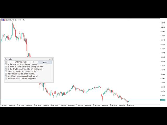 Traders Club Checklist for MT5