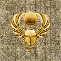 Egyptian Golden Scarab