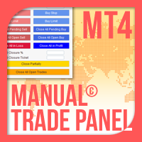 Manual Trade Panel EA MT4