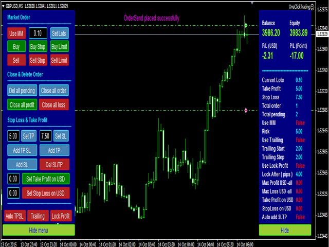 Download The One Click Trading Light Trading Utility For