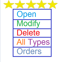 Open Modify Delete All Types Orders