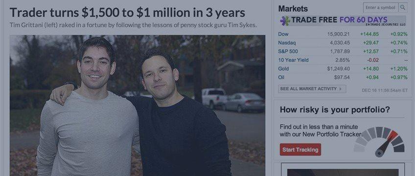 Una fabulosa historia de éxito: un joven convierte 1.500 dólares en 1 millón de dólares con penny stock