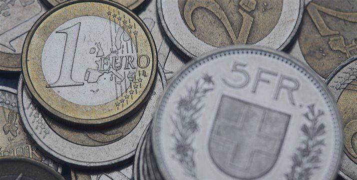 El franco suizo, al alza frente al dólar; el euro estable tras BCE