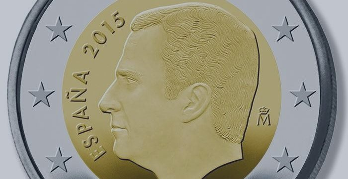 La cara del rey Felipe empieza a aparecer en las monedas de 1 y 2 euros