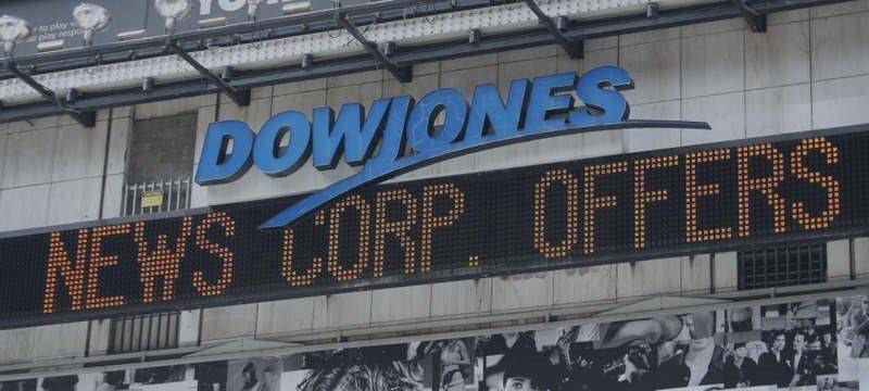 Dow Jones fecha em nível recorde; Nasdaq recua após 10 altas consecutivas