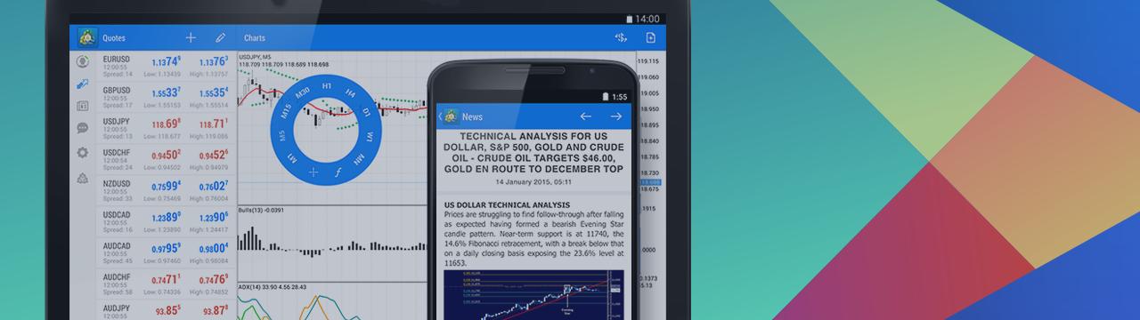 MetaTrader 4 para Android actualizado: rediseño realizado, añadido mostrador de noticias y registro del sistema (VÍDEO)