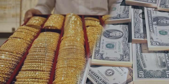 Oro más barato, el martes, en medio de un dólar fuerte
