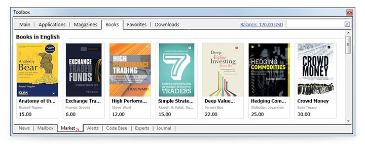 Leer libros sobre el comercio directamente en MetaTrader 4 y MetaTrader 5