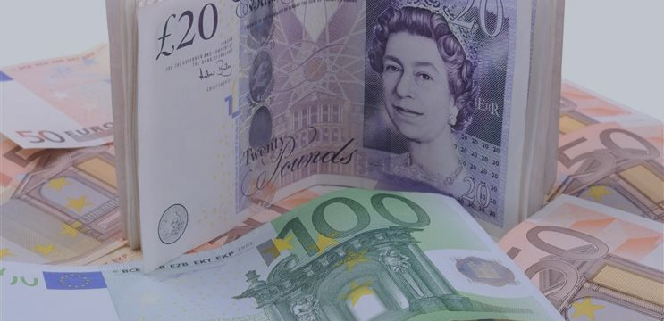 Pound approaches five-year lows after weak UK data