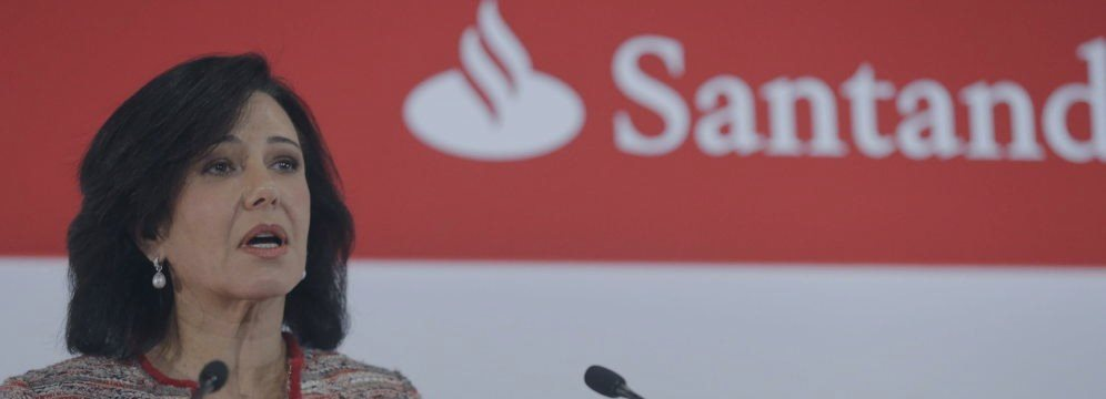 Santander entra en el club de los bancos que valen más de 100.000 millones